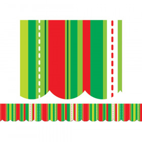 Holiday Stripes And Stitches Border