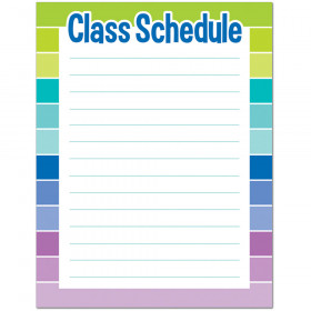 Painted Palette Class Schedule Chart