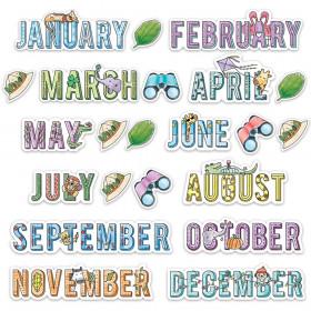 Safari Friends Months Mini Bulletin Board Set