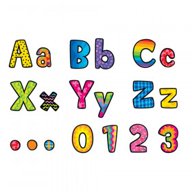 """Poppin' Patterns 4"""" Designer Letters, 216 Pieces"""