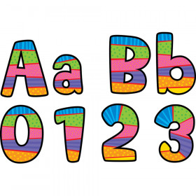 "Poppin' Patterns 4"" Playful Patterns Designer Letters"
