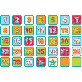 Dots on Turquoise Calendar Days