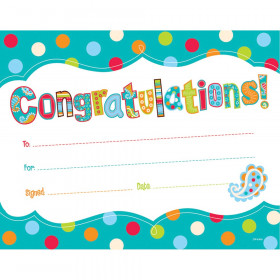 Dots On Turquoise Congratulations Award