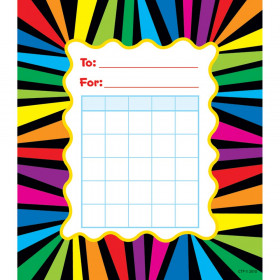 Rainbow Stripes Student Incentive Chart
