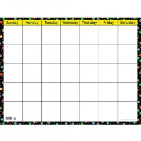 Dots on Black Small Calendar Chart