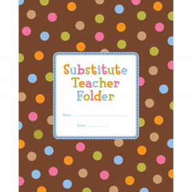 Dots on Chocolate Substitute Teacher Folder