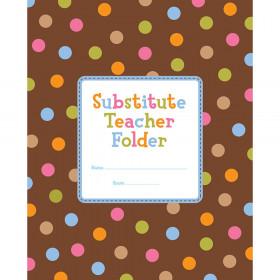Dots on Chocolate Substitute Teacher Folder