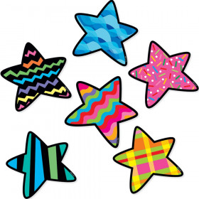 """Stars 6"""" Designer Cut-Outs Variety Pack"""