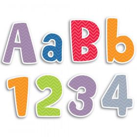 "Chevron Solids 4"" Designer Letters, 216/Pack"