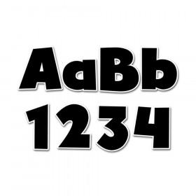 "Bold Black 4"" Designer Letters, 199 Pieces"