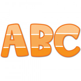 """Painted Palette Orange 2"""" Uppercase Stickers"""