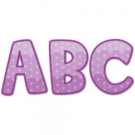 "Painted Palette Purple 2"" Uppercase Letter Stickers"