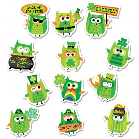St. Patrick's Day Owl Stickers
