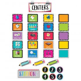 Bold Bright Class Centers Mini Bulletin Board Set