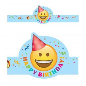 Emoji Fun Happy Birthday Crown, 30 Per Pack