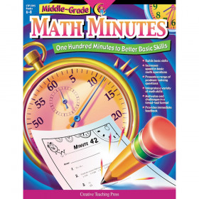 Middle-Grade Math Minutes Book