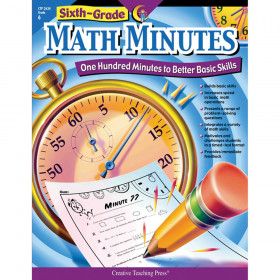 Creative Teaching Press Math Minutes Book, Grade 6