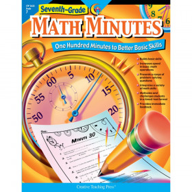 Creative Teaching Press Math Minutes Book, Grade 7