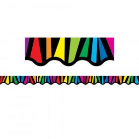 Rainbow Stripes Border, 35 Feet