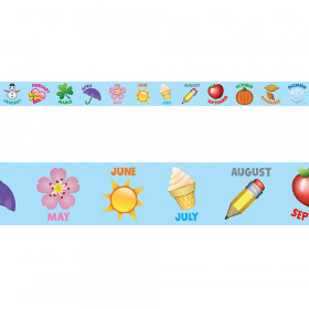 Emoji Months Of The Year Border
