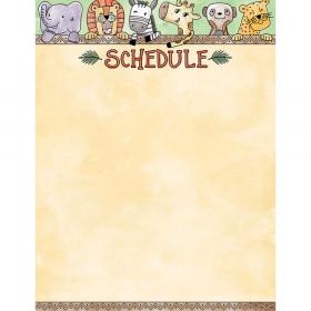 Safari Friends Schedule Chart