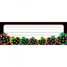 Dots on Black Apples Name Plates