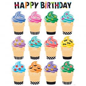 Bold & Bright Happy Birthday Chart