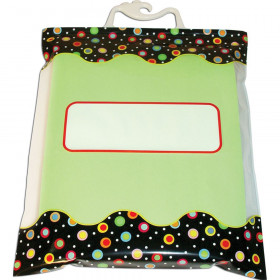 """Dots on Black Storage Bags, 10.5"""" x 12.5"""", Pack of 6"""