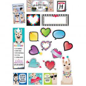 Bold & Bright Happy Va-llama-Tine's Day Mini Bulletin Board