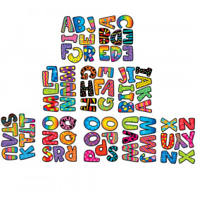 "Poppin' Patterns 2"" Uppercase Letter Stickers"