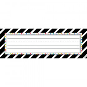 Bold Stripes/Dots Nameplates Bold And Bright