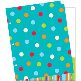 Dots On Turquoise 2 Pocket Folder