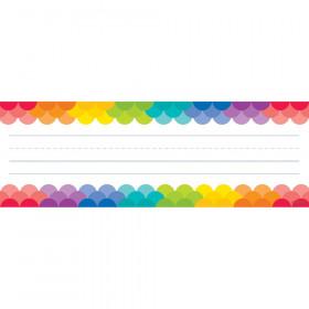 Rainbow Scallops Name Plates