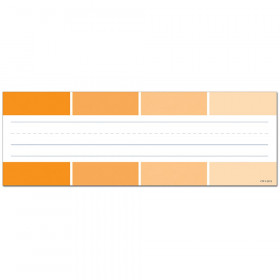 Painted Palette Orange Paint Chip Name Plates