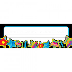 Poppin' Patterns Stars Name Plate