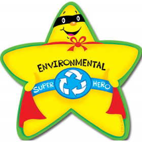 Environmental Super Hero Star Badge
