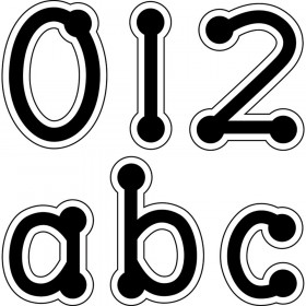 Black Dot-to-Dot Lowercase Letter Stickers