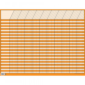 Orange Large Horizontal Incentive Chart