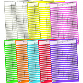 Small Vertical Incentive Charts Variety Pack