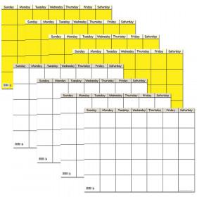 Small Horizontal Calendar Charts Variety Pack