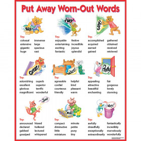 Chart Put Away Worn-Out Words