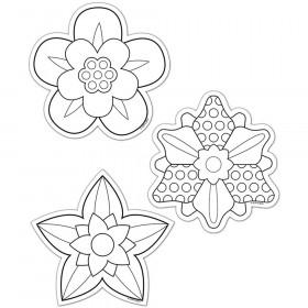 """Color-Me Flowers 6"""" Designer Cut-Outs"""