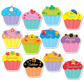 Designer Cut-Outs, Cupcakes, 10""