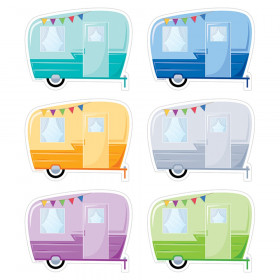 "Woodland Friends Vintage Trailers 6"" Designer Cut-Outs, 36 Per Pack"