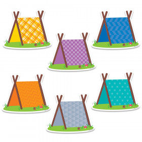"Woodland Friends Pup Tents 6"" Designer Cut-Outs, 36 Per Pack"