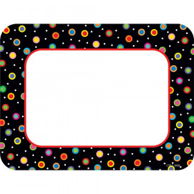 Dots On Black Cards Pp Cut Outs