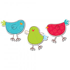 "Tweeting Birds 10"" Jumbo Designer Cut-Outs"