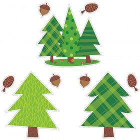 "Woodland Friends Pine Trees 10"" Jumbo Designer Cut-Outs"