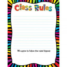 Poppin' Patterns Class Rules Poster Chart