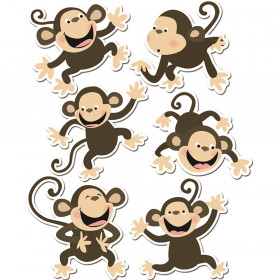"Monkeys Cut-Outs Variety Pack, 6 Designs, 6"" x 6"", 36 Per Pack"